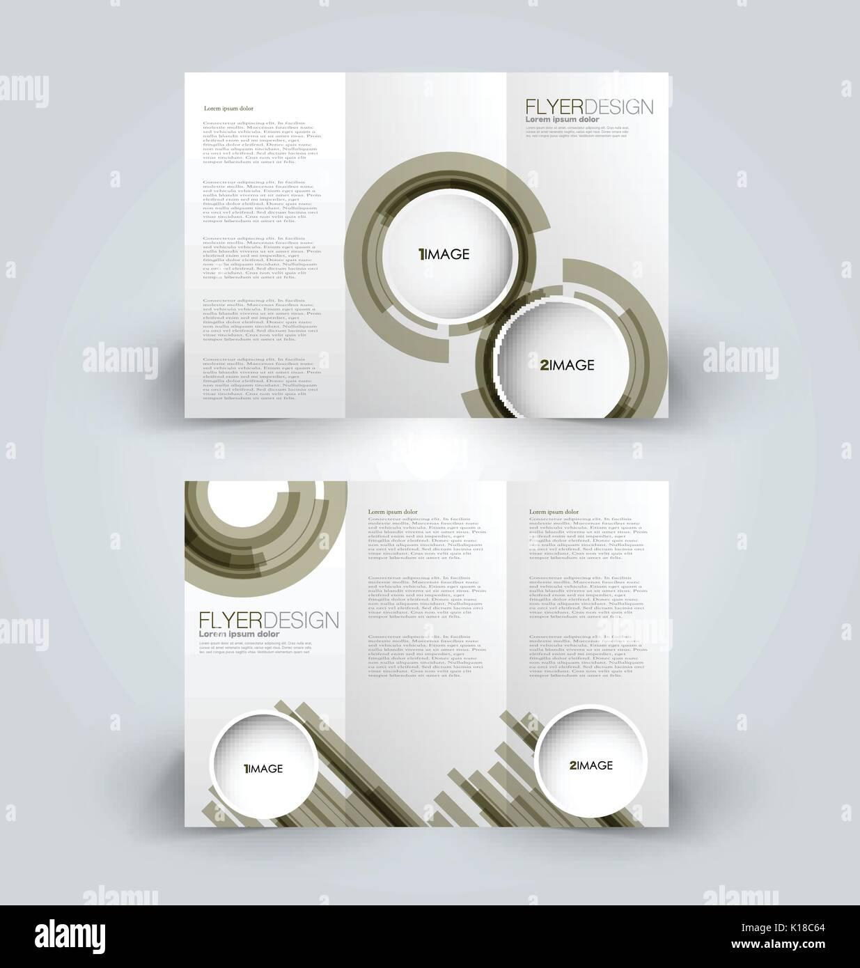 Folleto tríptico plantilla de diseño para los negocios, la educación ...