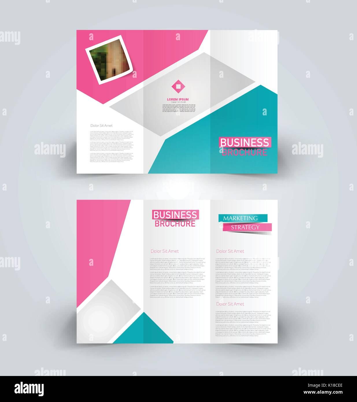 Plantilla de folleto. business doblado en tríptico flyer. Tendencia ...