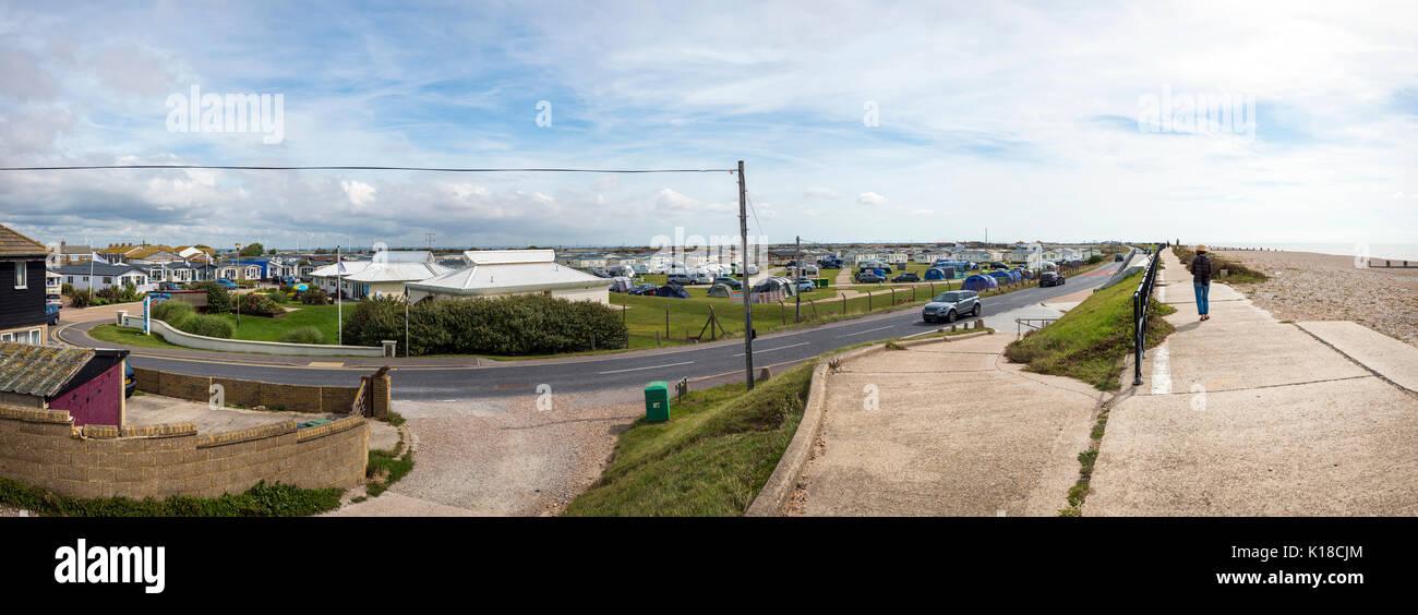 Cámping en arenas de combadura, East Sussex, Reino Unido Imagen De Stock