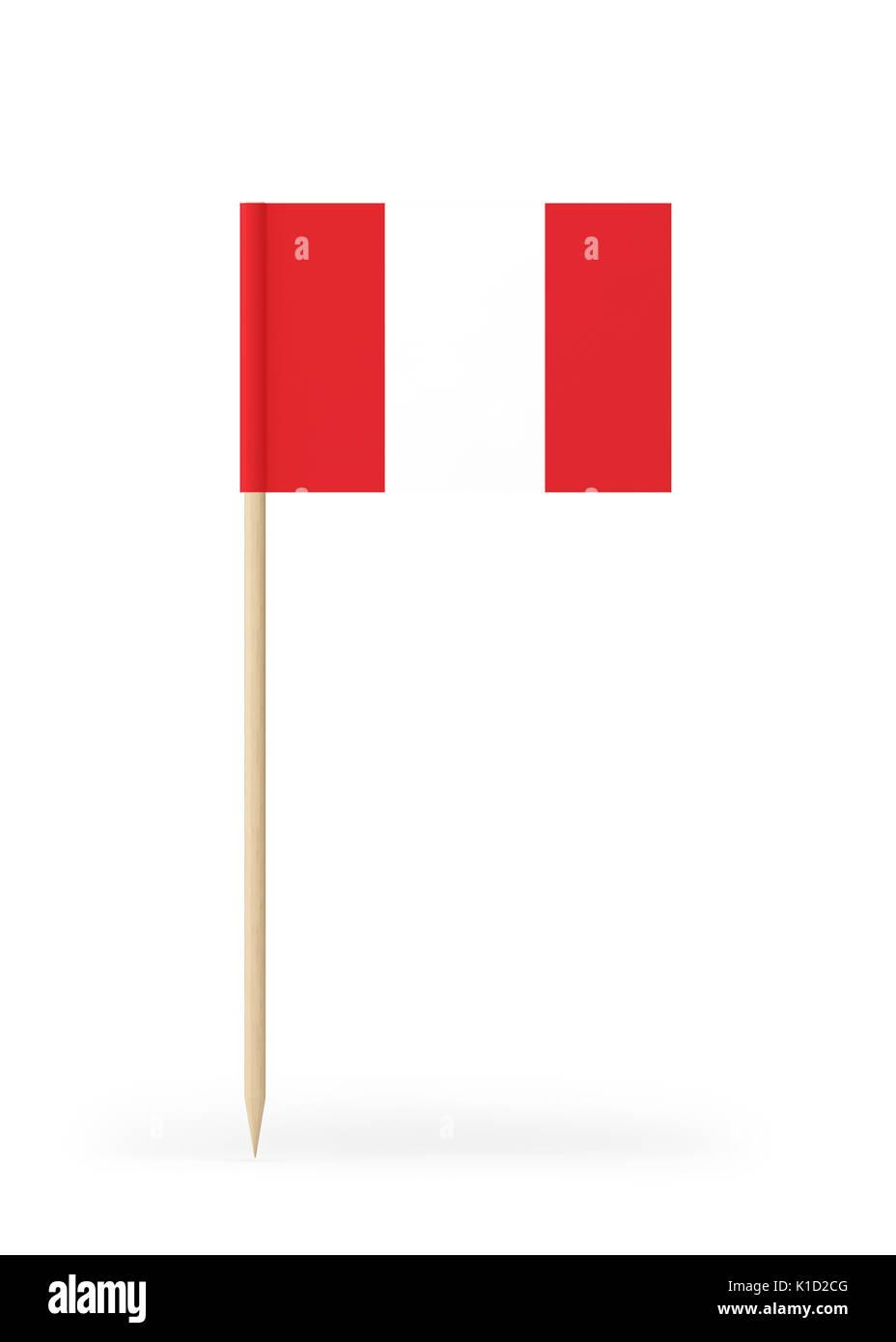 Perú pequeña bandera en un palillo. La bandera tiene bien detallada Textura  de papel. 2e9e109d2bd4b
