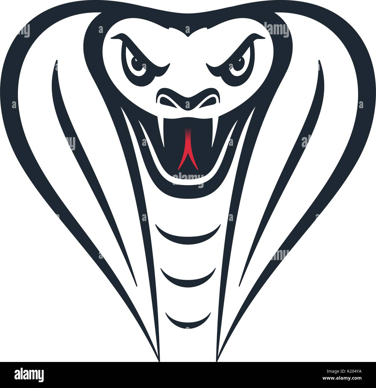 Cabeza De Cobra Furiosa Sobre Fondo Blanco Diseño De Cabeza De Serpiente Ilustración Vectorial Imagen Vector De Stock Alamy