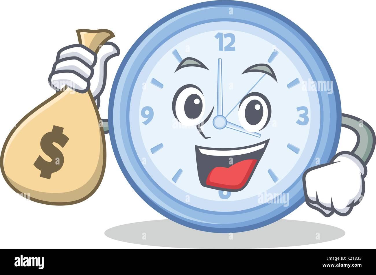Bolsa De Dinero Con Carácter De Reloj Estilo De Dibujos