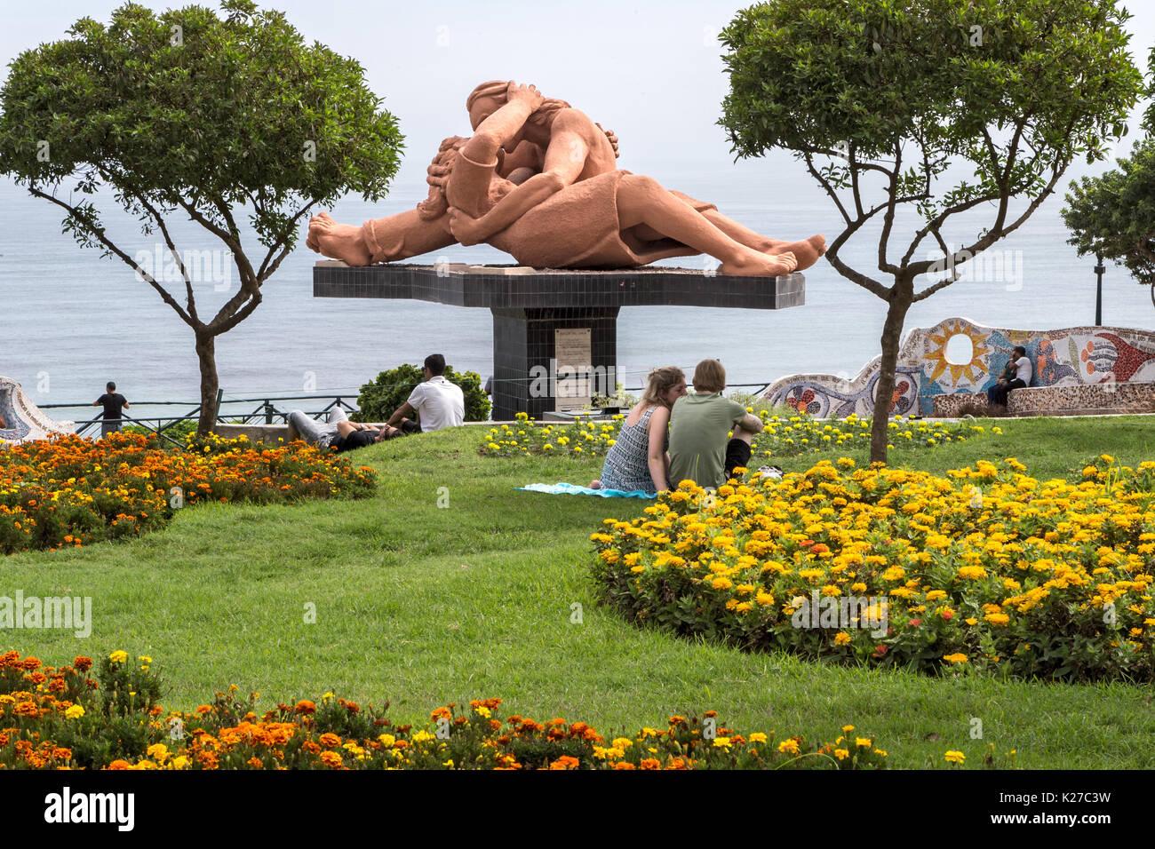 Parque del Amor en Lima, Perú Imagen De Stock