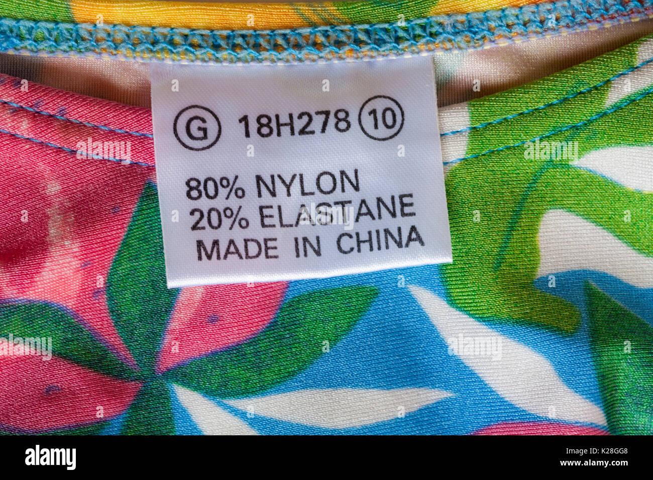 Fabricado en China etiqueta en bikini 80% poliamida 20% elastano - vendido  en el c317c759df9