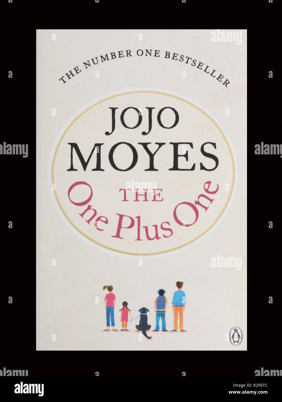 El libro, el Uno Más Uno por Jojo Moyes Foto de stock