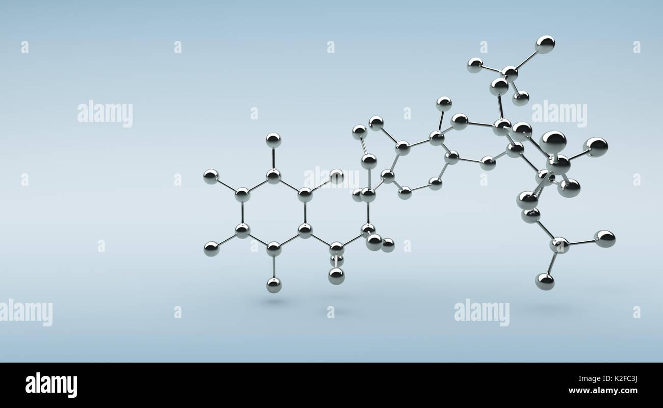 Sólida estructura molecular y el pegado con fondo Foto de stock
