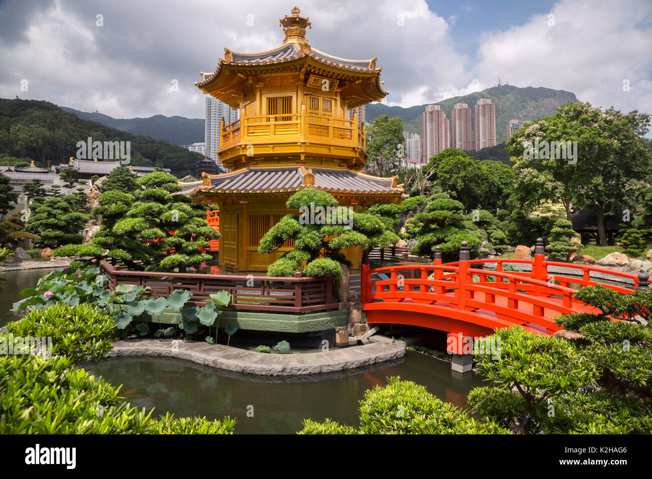 Templo de la perfección absoluta en Hong Kong Imagen De Stock