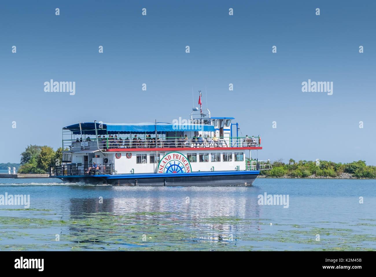 El Island Princess un barco sale diariamente desde el puerto de Orillia Ontario Canada. Foto de stock