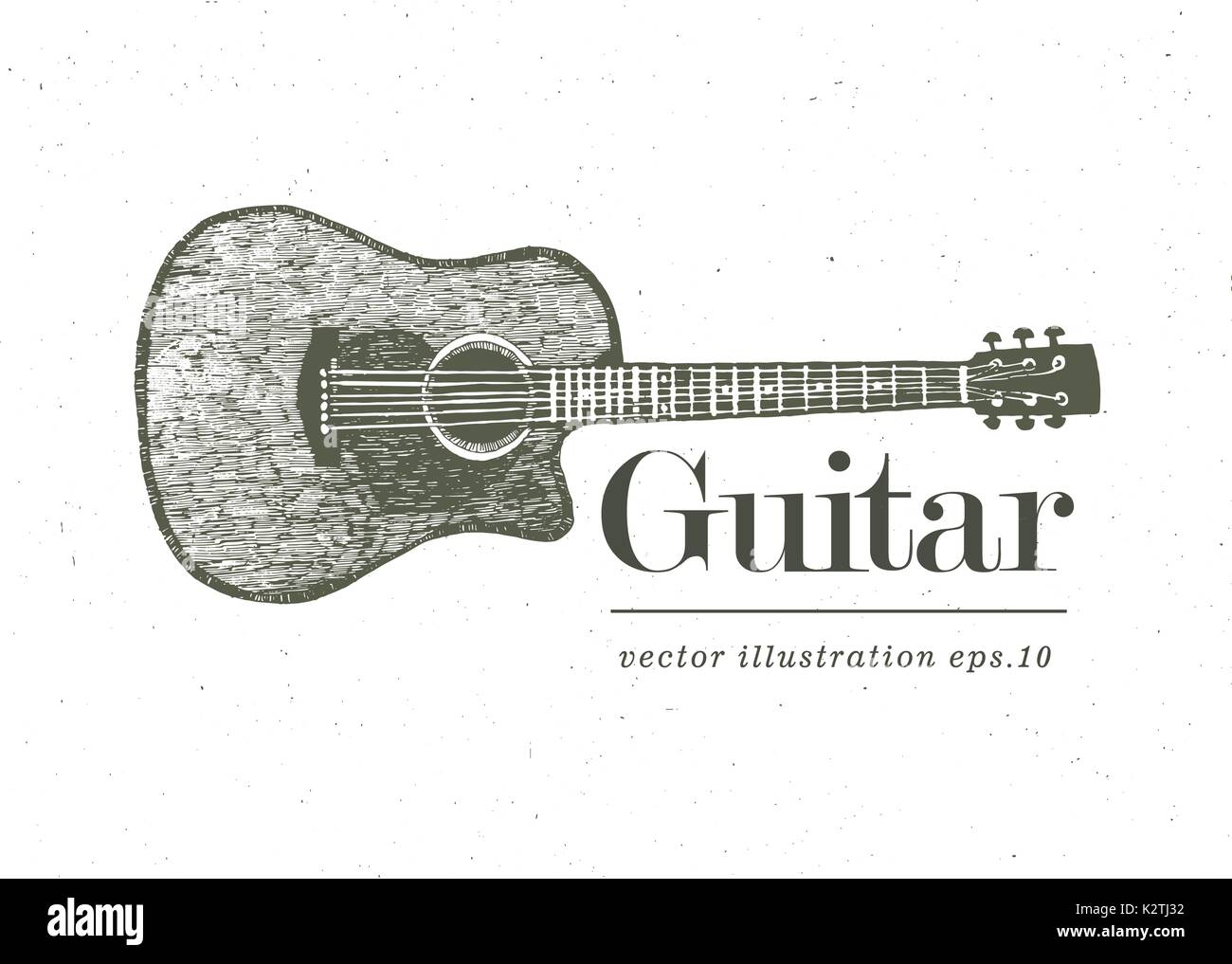 Acoustic Guitar Sketch Imágenes De Stock & Acoustic Guitar Sketch ...