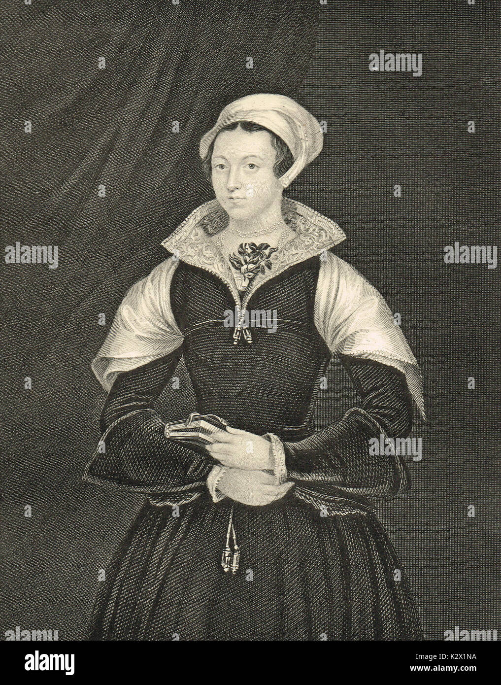 Lady Jane Grey, a los nueve días la Reina Imagen De Stock
