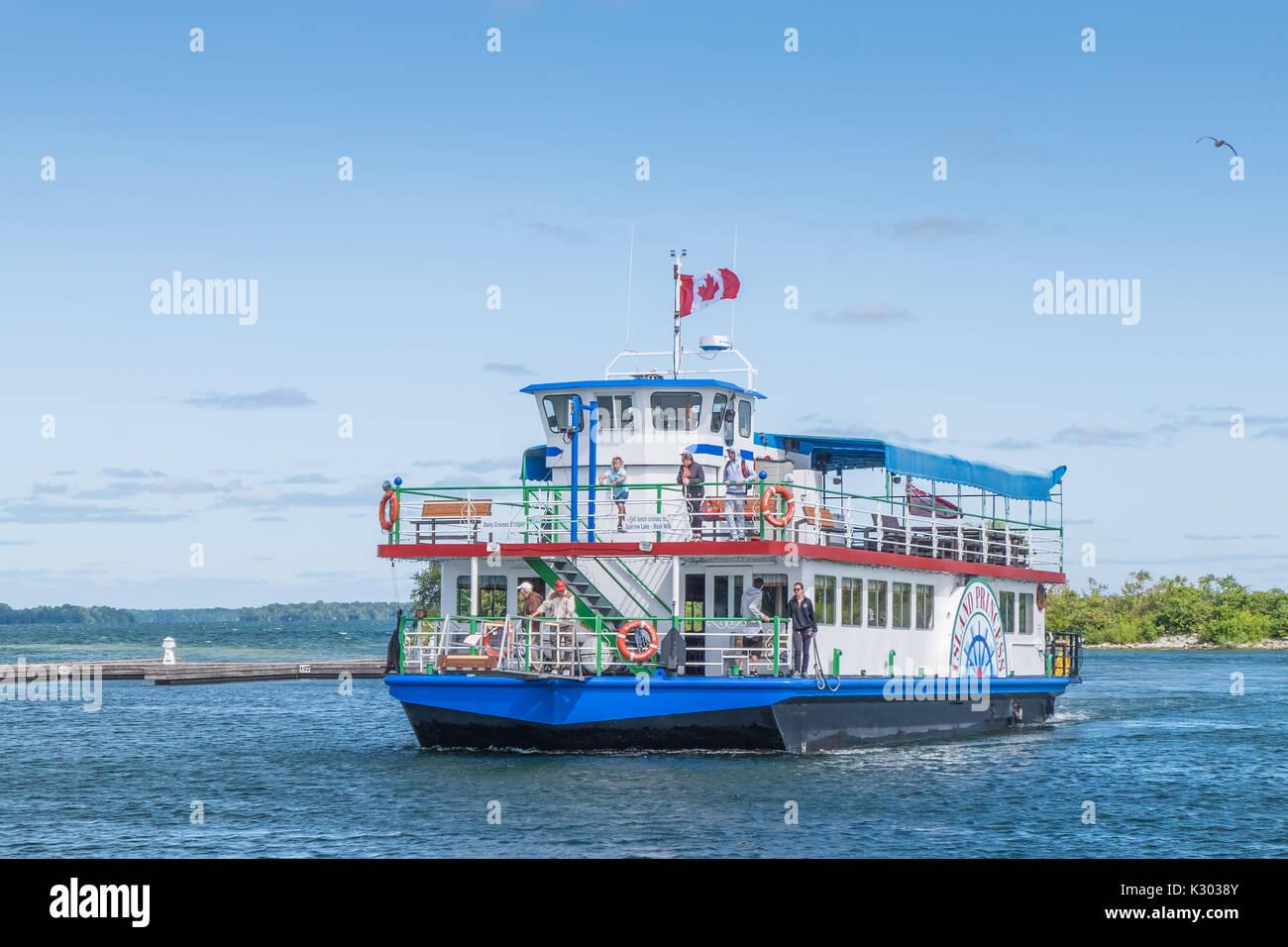 El Island Princess una excursión en barco por el lago operativo Couchiching sale diariamente desde el puerto de Foto de stock
