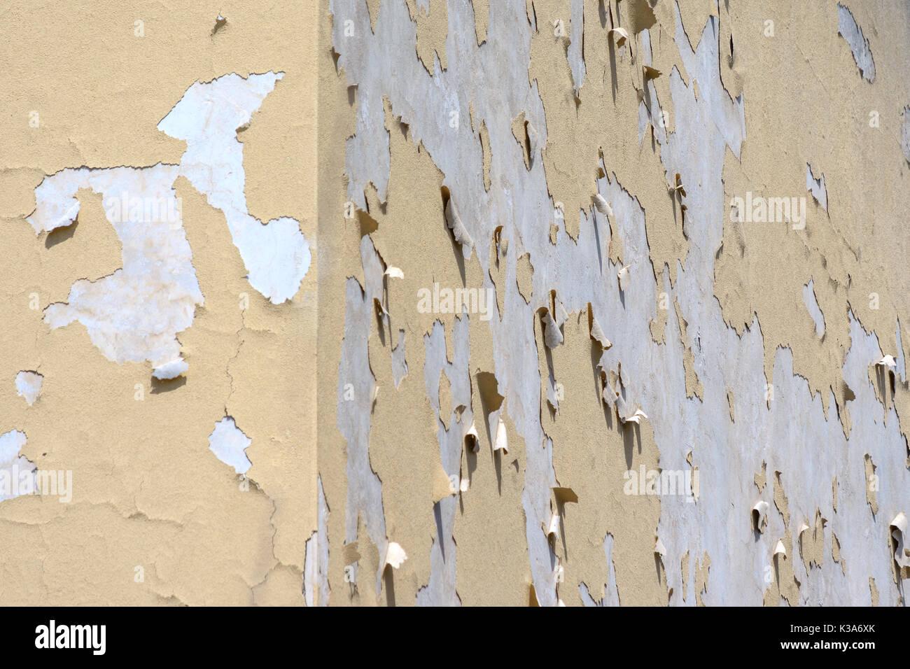 Fachada de edificio de pared en ruinas Imagen De Stock