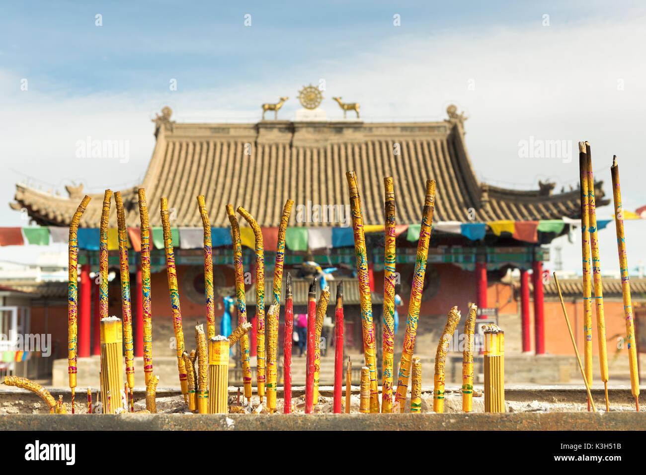 Xilinhot, Mongolia interior, China-Julio 23, 2017: beizi templo es uno de los mayores lamaseries en Mongolia interior. Foto de stock