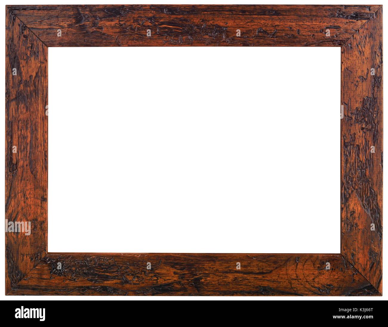 Marco de fotos antiguas de madera recorte Foto & Imagen De Stock ...