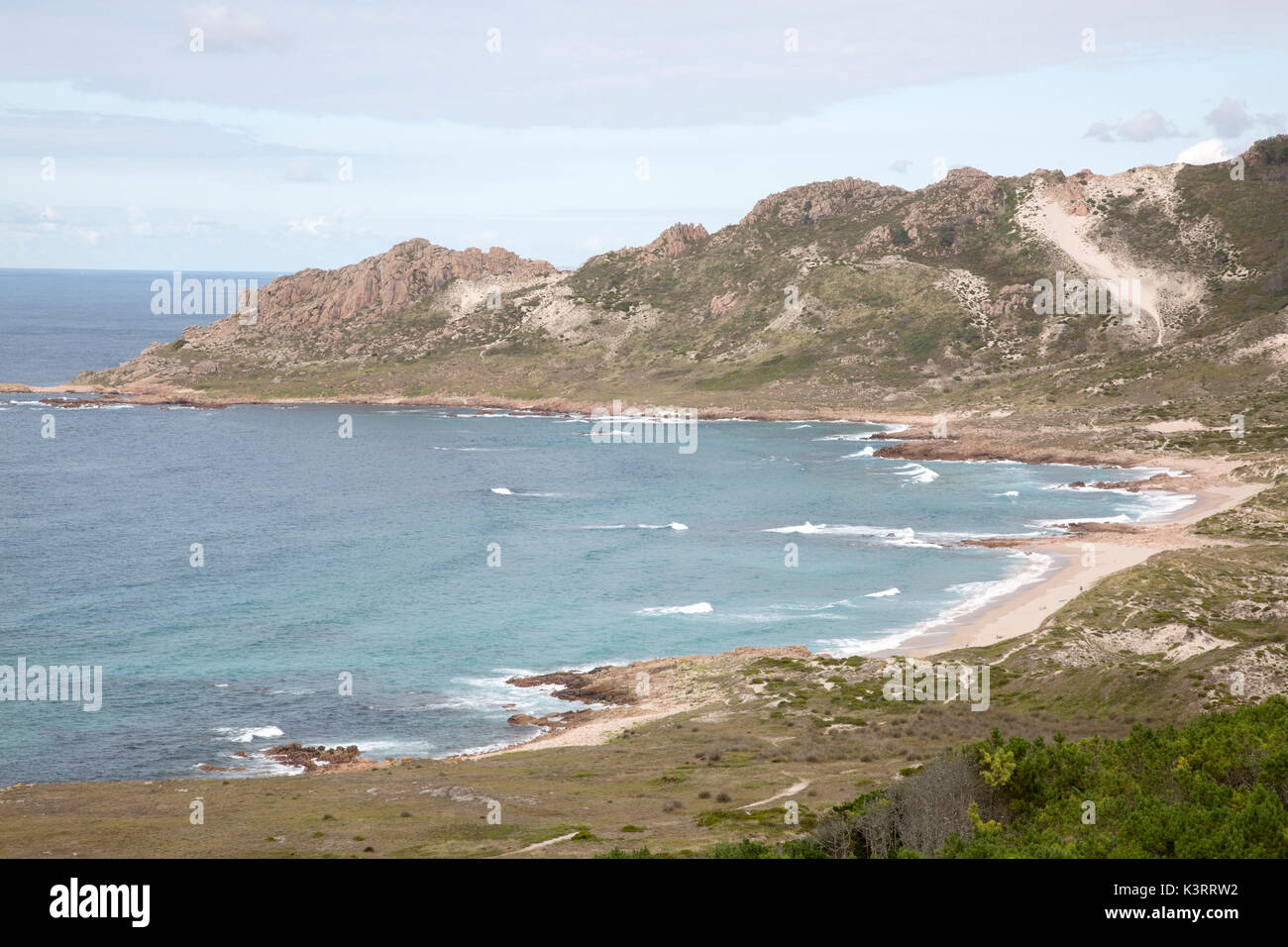 Trece Playa, Costa de la Muerte, Galicia, España Imagen De Stock