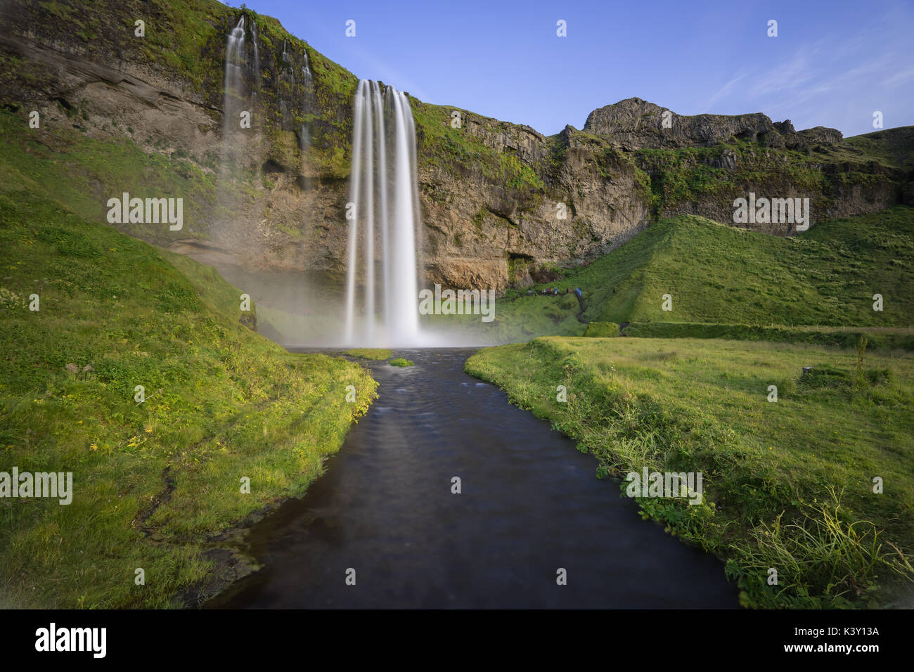 Cascada de Seljalandsfoss, Islandia. Foto de stock