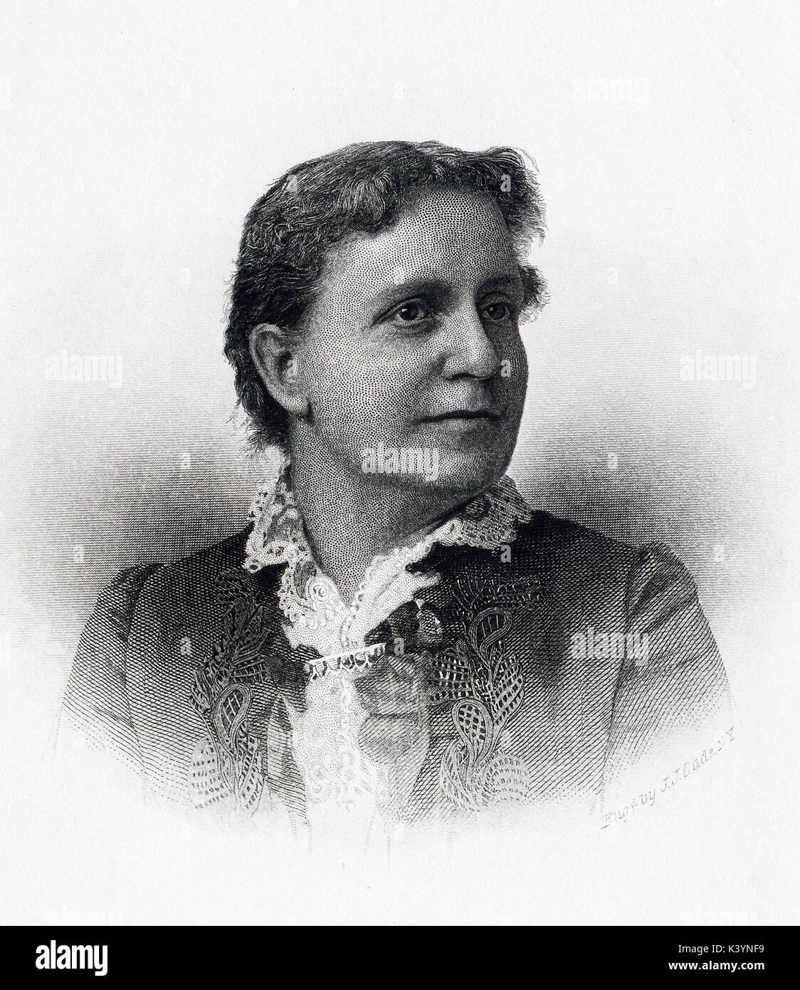 Este late 19th-century ilustración muestra Helen Campbell el título reza: atentamente, Helen Campbell. Fue grabado Foto de stock
