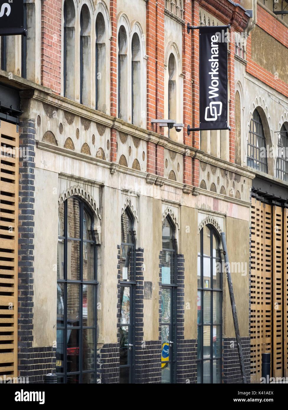 Workshare empresa de software con sede en la calle de moda en el East End de Londres Imagen De Stock