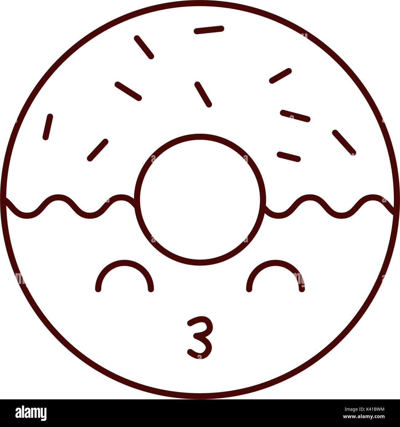 Donut Kawaii Dessert Cute Sweet Imágenes De Stock Donut Kawaii