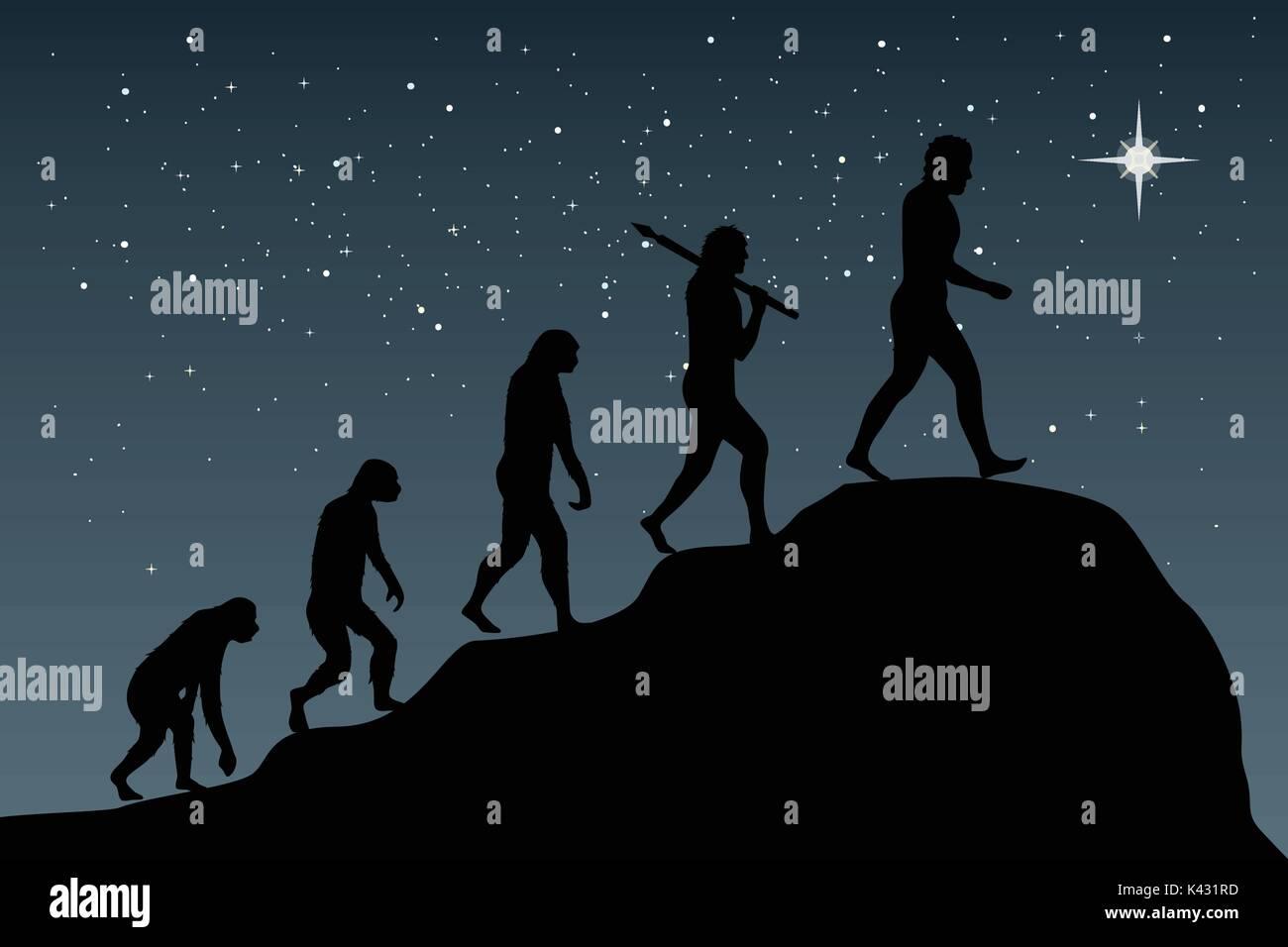 La evolución humana en el actual mundo digital. El riesgo empresarial concepto! Imagen De Stock