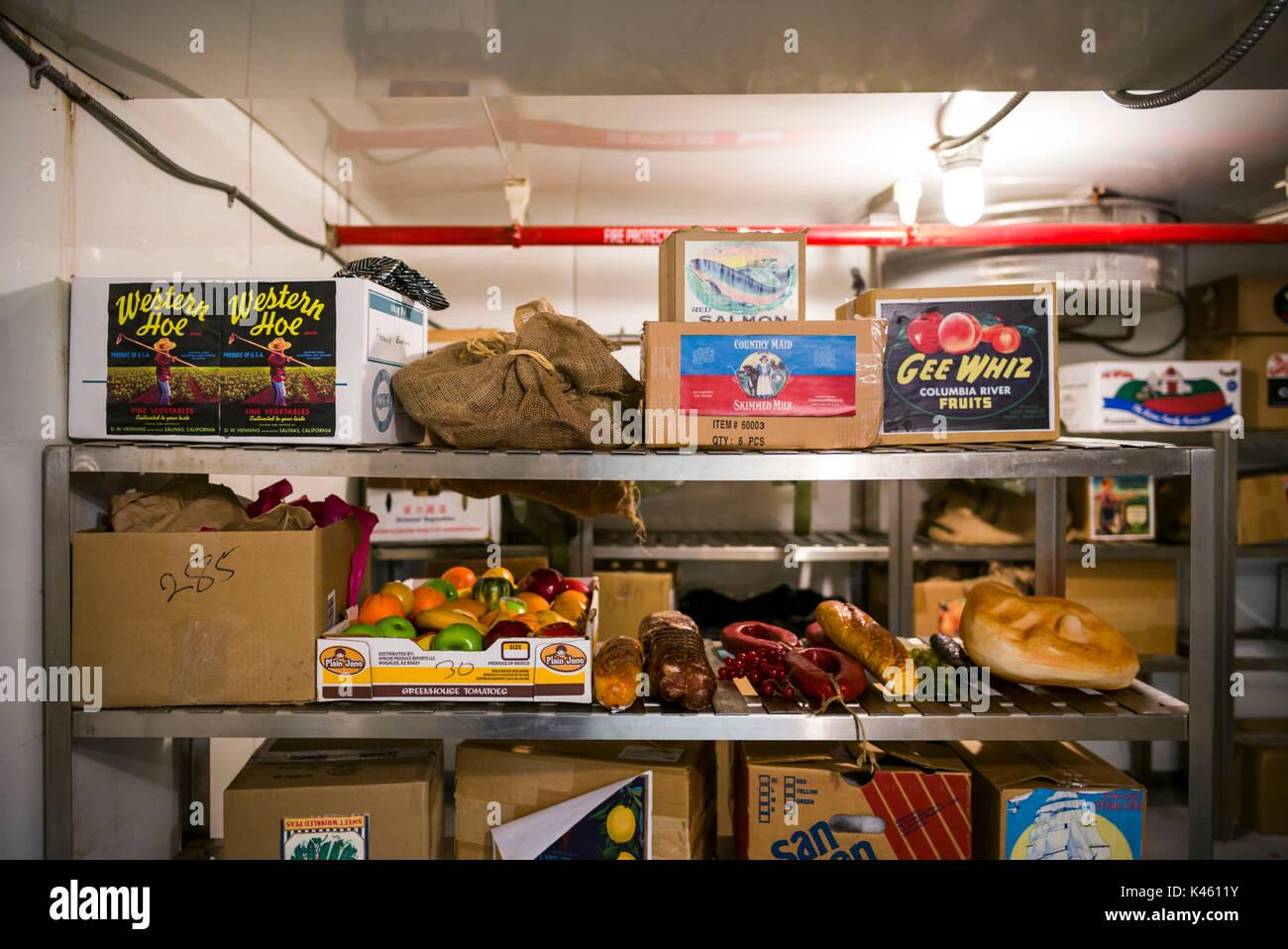 Canadá, Ontario, carpa, el diefenbunker, Museo canadiense de la guerra fría en bunker bunker subterráneo, almacenamiento de alimentos Imagen De Stock