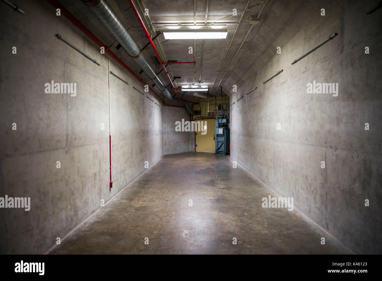 Canadá, Ontario, carpa, el diefenbunker, Museo canadiense de la guerra fría en bunker bunker subterráneo, pasaje Imagen De Stock