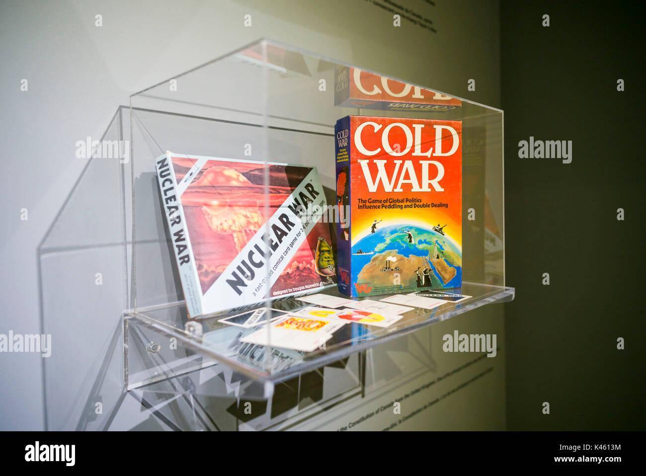 Canadá, Ontario, carpa, el diefenbunker, Museo canadiense de la guerra fría en el bunker subterráneo, la guerra nuclear juegos de mesa Imagen De Stock