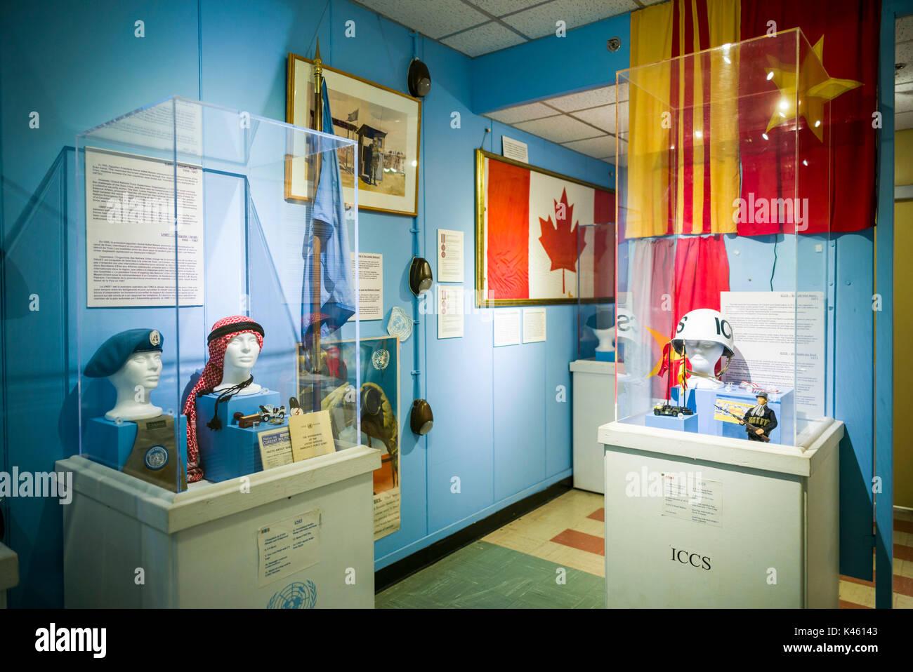 Canadá, Ontario, carpa, el diefenbunker, Museo canadiense de la guerra fría en el bunker subterráneo, exposición de las Naciones Unidas Imagen De Stock