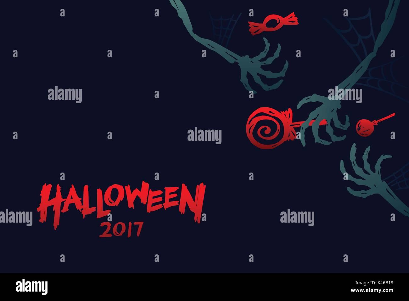 Halloween 2017 conjunto de plantillas de fondo, esqueleto monster ...