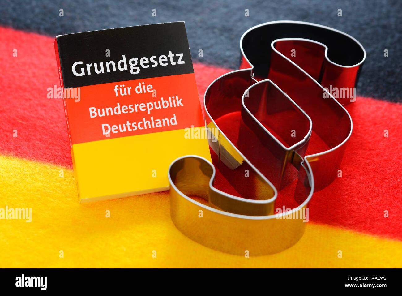 La Ley Fundamental alemana y signo de párrafo Foto de stock