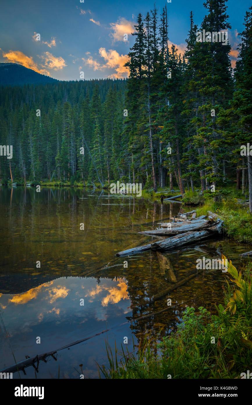 Los Pecos Wilderness es un área silvestre protegida dentro del Bosque Nacional de Santa Fe y Carson National Forest. Imagen De Stock