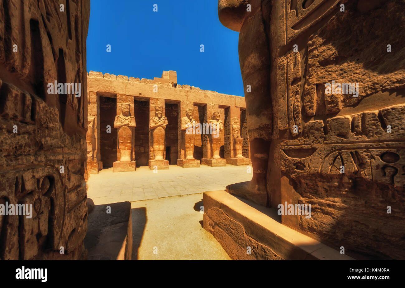 Templo de Karnak, Sala de las Cariátides. Luxor, Egipto Imagen De Stock