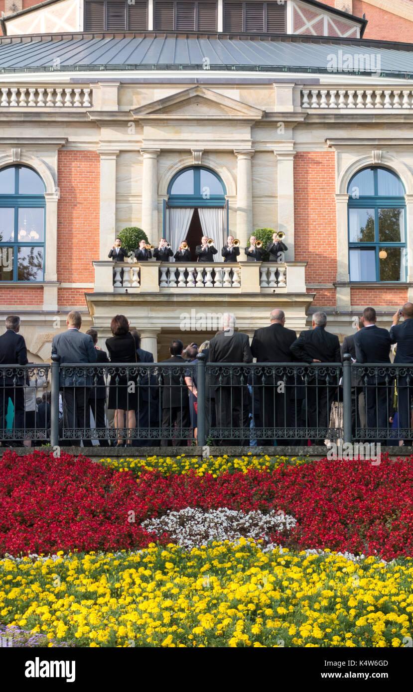 El Bayreuth Festspielhaus o Festival de Bayreuth Ópera Teatro, Franconia, Baviera, Alemania Imagen De Stock