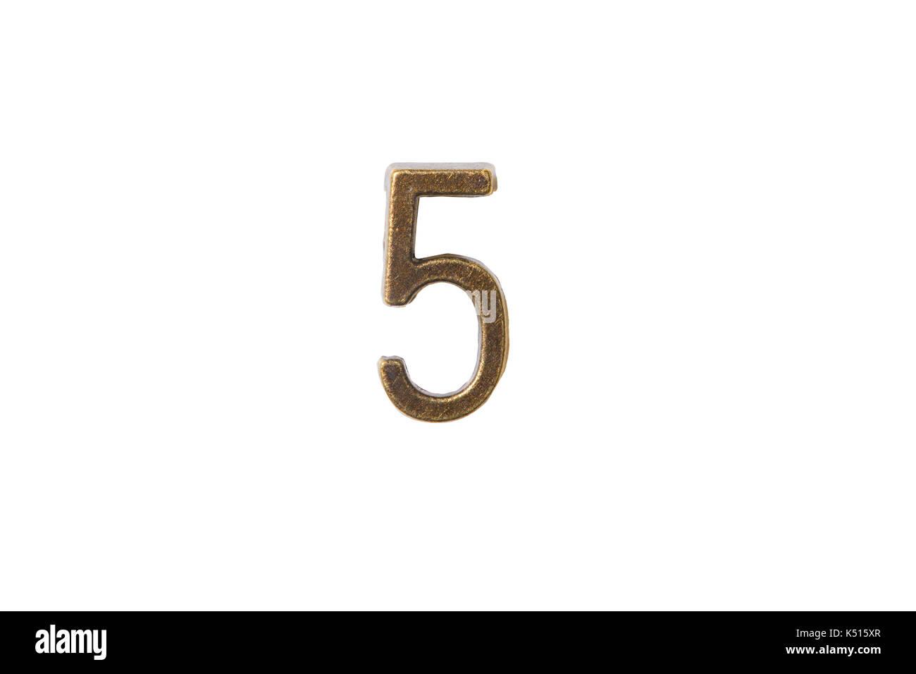 Fuente de oro número 1 al 0, un estilo retro font face o tipo de fuente Imagen De Stock
