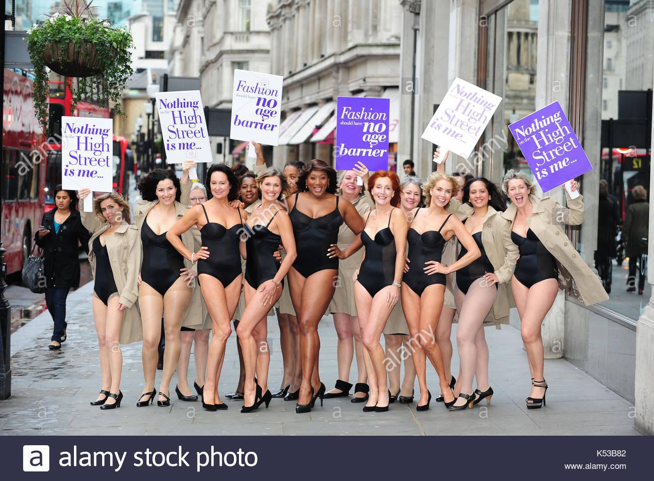 Particpators en la talla única toda protesta. 15 modelos salieron a ...
