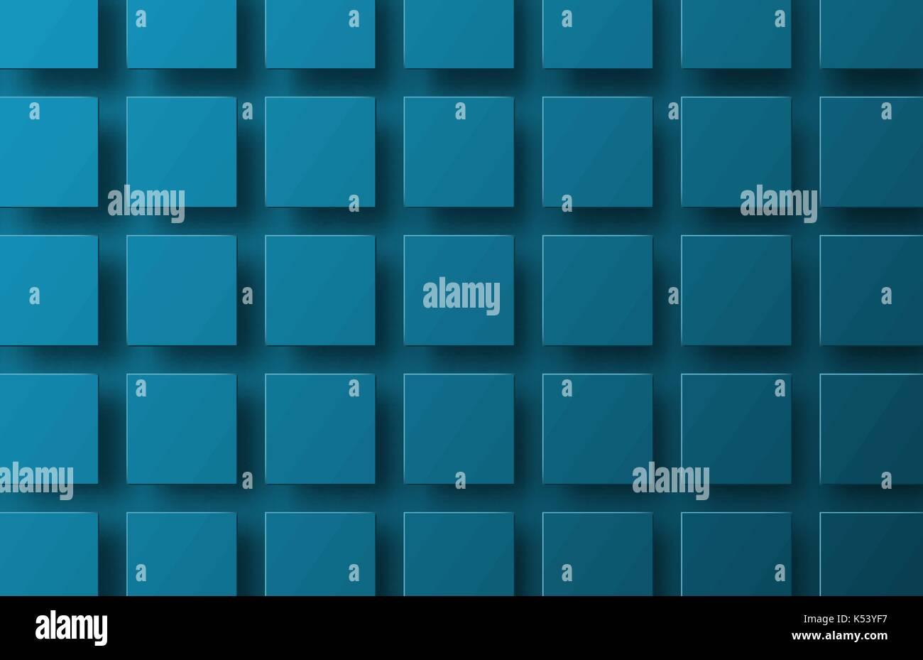 Plantilla de un azul de fondo vector con cuadrados colgando en el ...