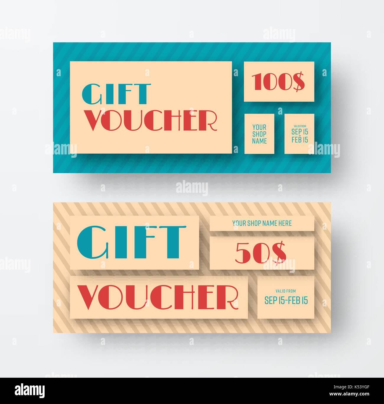 Vintage Gift Voucher Template Imágenes De Stock & Vintage Gift ...