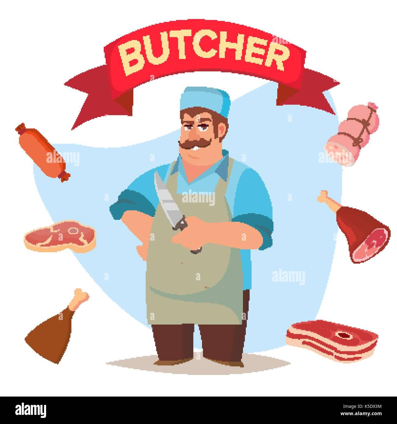Couteau de boucher professionnel professionnel de vecteur