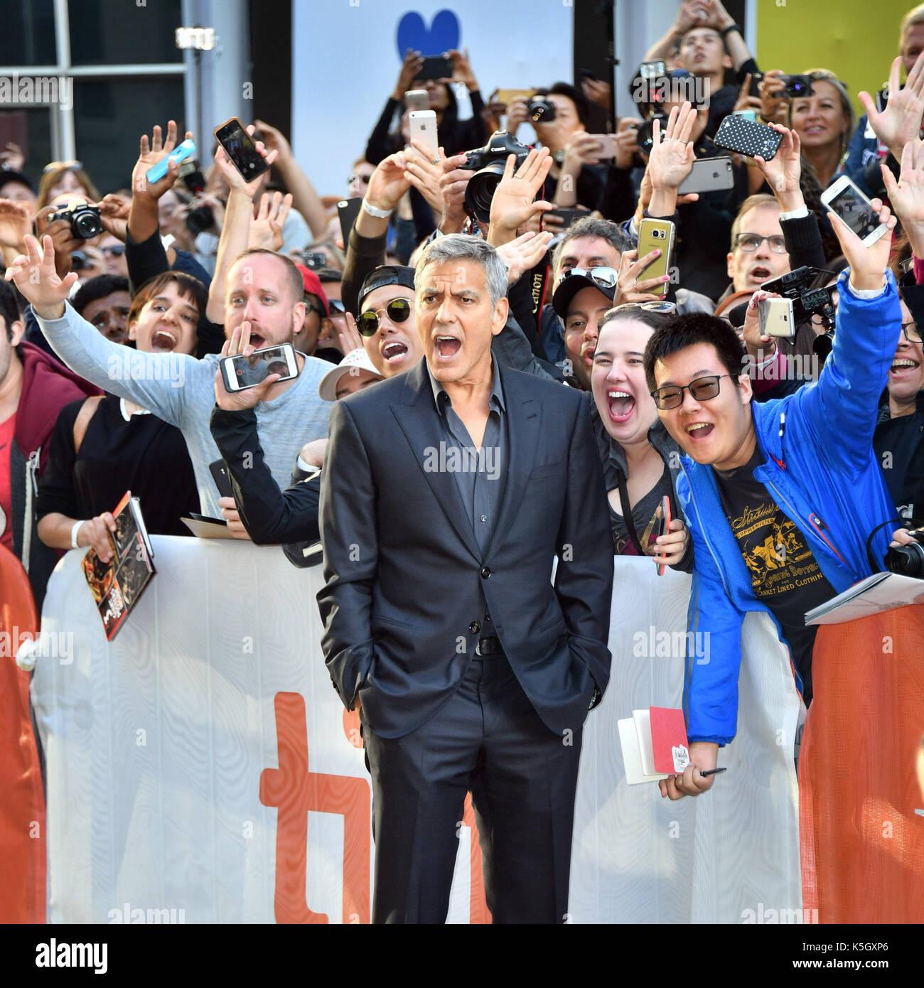 Toronto, Ontario, Canadá. 9 Sep, 2017. GEORGE CLOONEY atiende 'Suburbicon' estreno durante el 2017 Toronto International Foto de stock