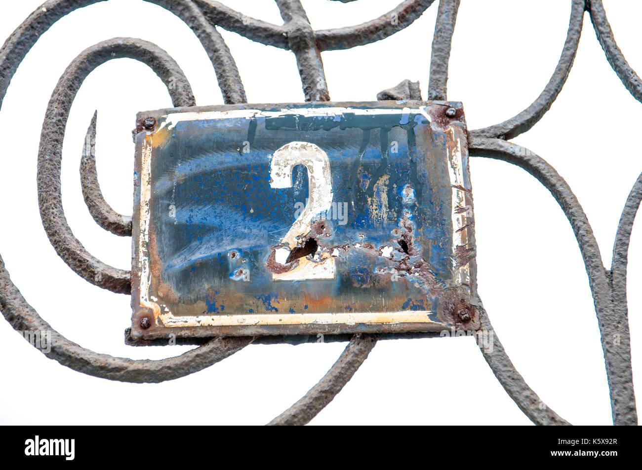 Número de casa Imagen De Stock