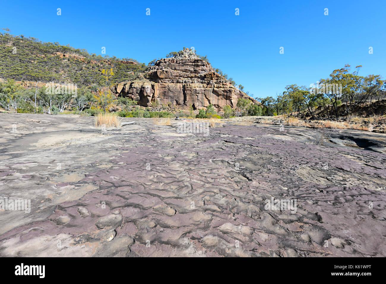 La pirámide erosionadas en el puercoespín Gorge National Park, Queensland, Queensland, Australia Foto de stock