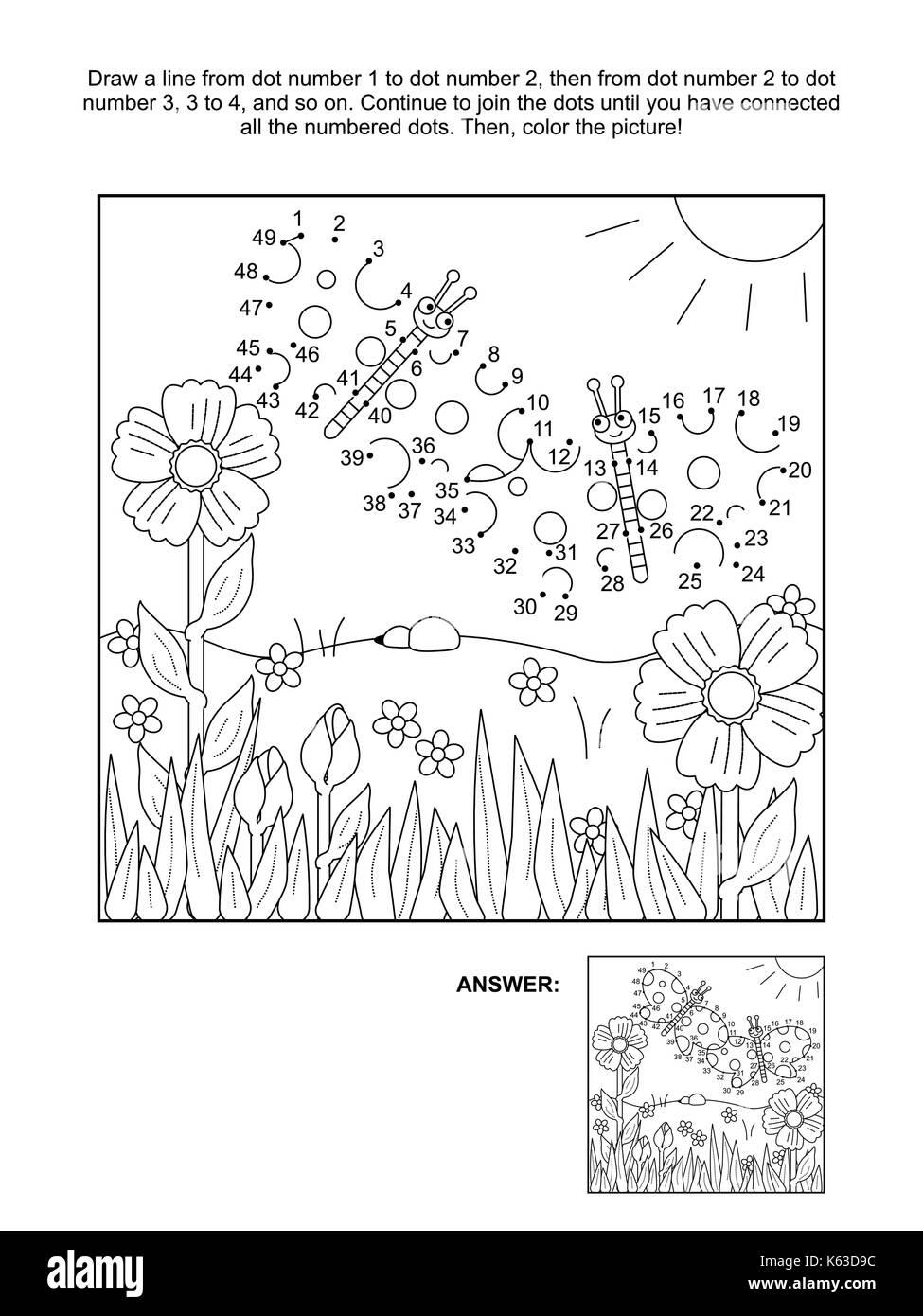 Conecte Los Puntos Rompecabezas De Imágenes Y Páginas Para Colorear