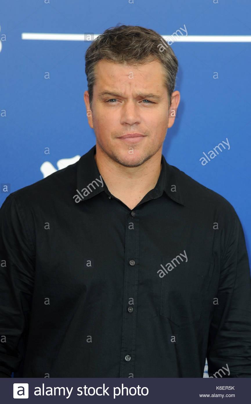Matt Damon venezia 05-09-2017 Foto de stock