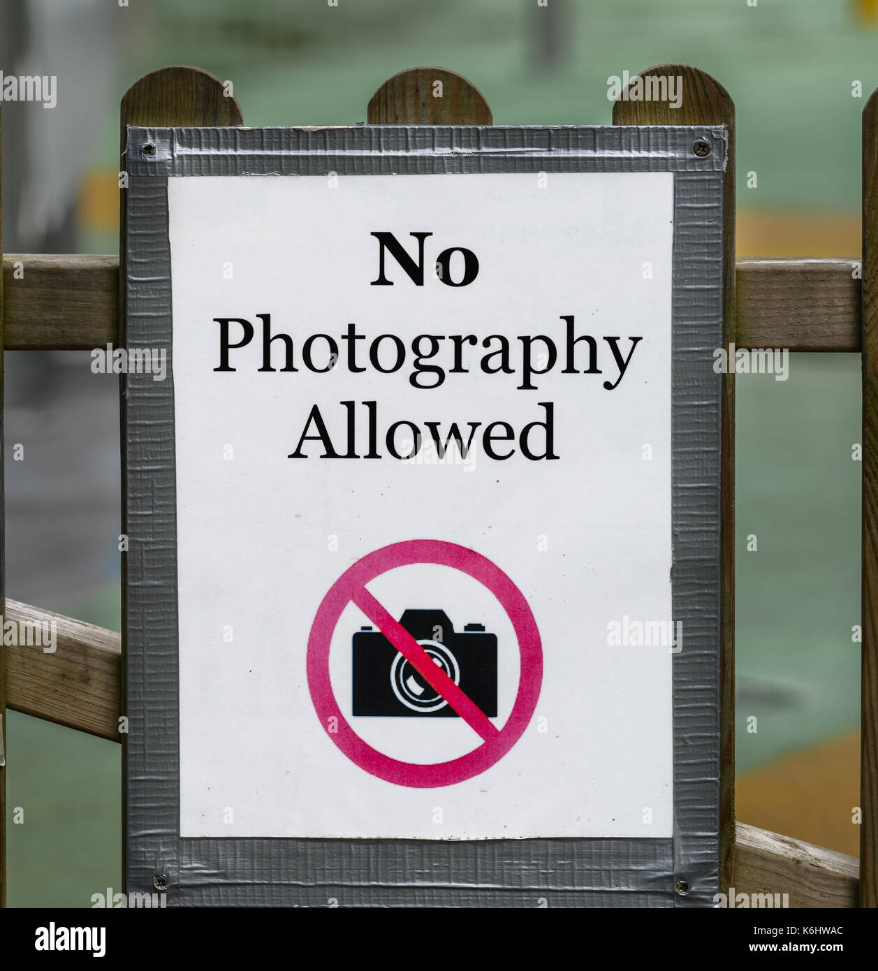 """""""Ninguna fotografía de preaviso fuera del splashpool en Normanby Hall, Lincolnshire, Inglaterra. Imagen De Stock"""
