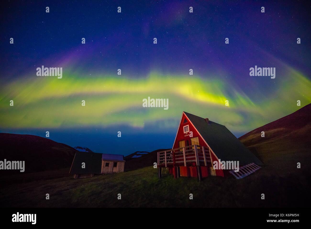 Es un Kerlingarfjöll 1.477 m (4.846 pies) de altura en la cordillera de Islandia situado en las tierras altas de Foto de stock
