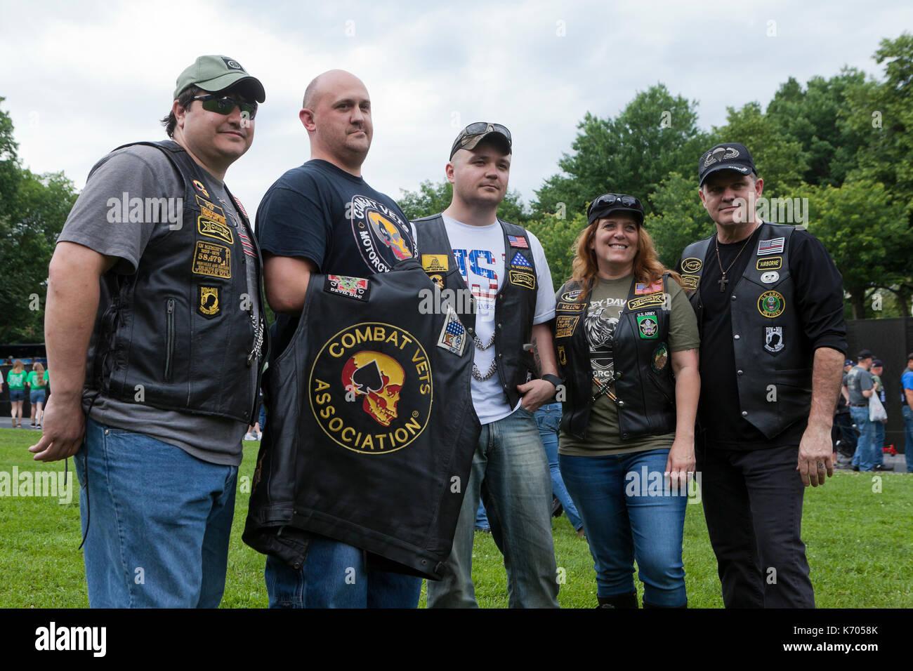 Los miembros de Veteranos de combate Asociación de Motocicletas en el Monumento de la guerra de Vietnam durante el fin de semana de Memorial Day - Washington, DC, EE.UU. Imagen De Stock