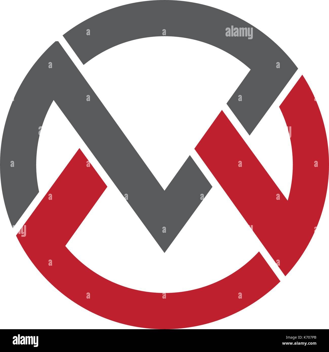 V carta logo plantilla icono vectorial ilustración Ilustración del ...