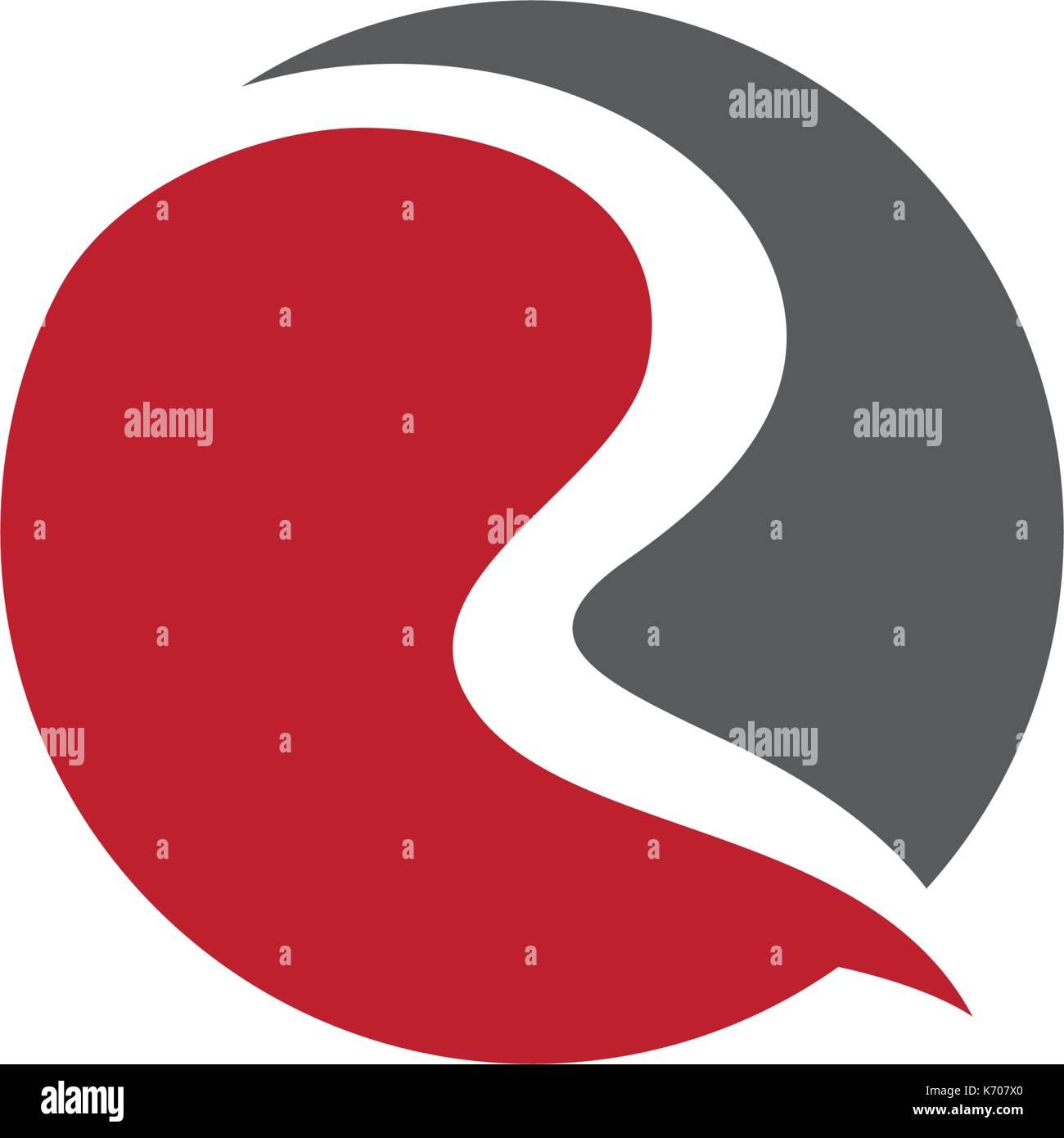 R carta logo plantilla icono vectorial ilustración Ilustración del ...
