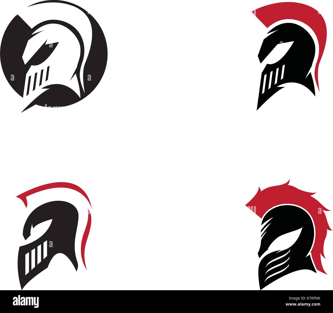 Casco espartano logo vector plantilla de diseño del icono ...