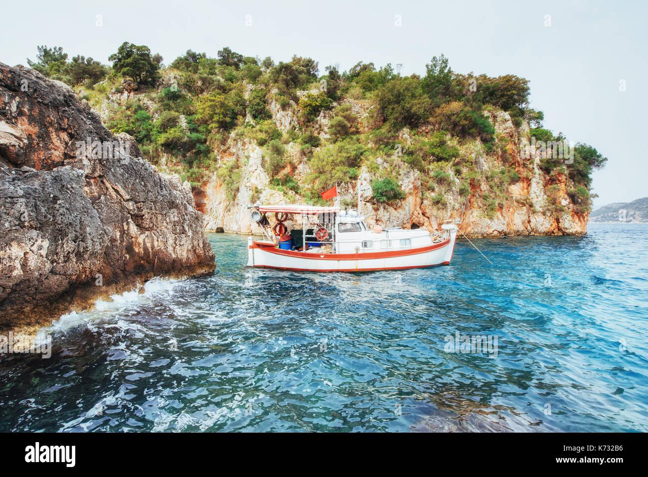 Vista panorámica sobre la costa marítima mundial de belleza. Imagen De Stock